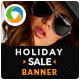 Holiday Sale Web Banner Design Set - GraphicRiver Item for Sale