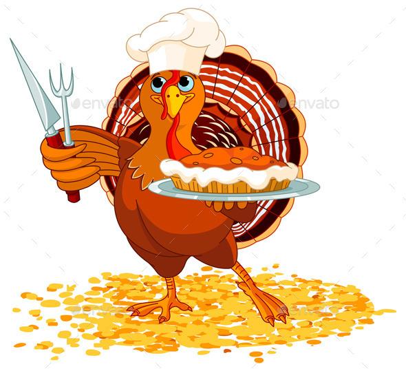 GraphicRiver Turkey and Pie 9840492