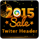 New Year Party Twitter Header - GraphicRiver Item for Sale