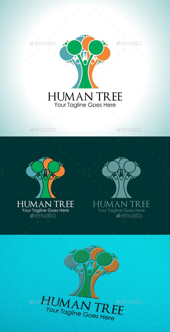 GraphicRiver Human Tree Logo 9792080