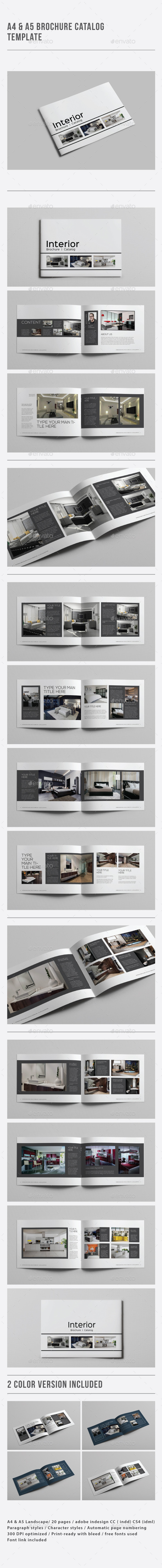 A4 & A5 Brochure Catalog Template