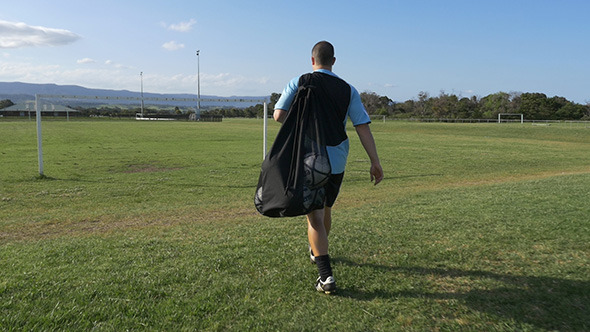 VideoHive Football Soccer Player Walking to the Fields 9840698