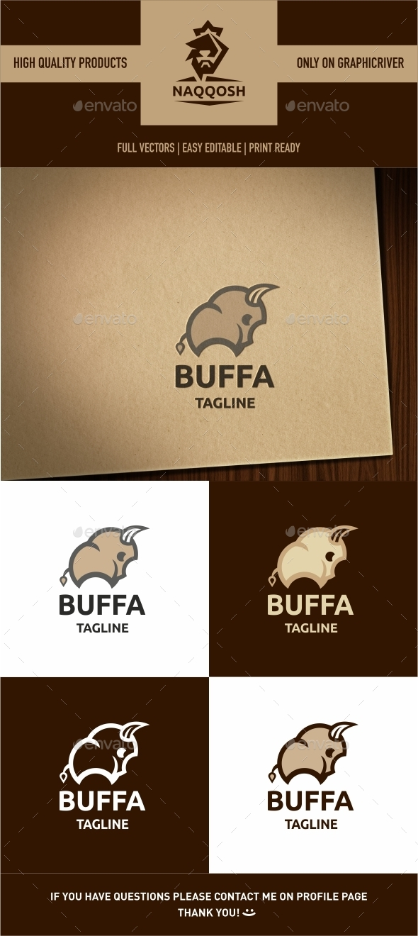 GraphicRiver Buffalo Logo Template 9840709
