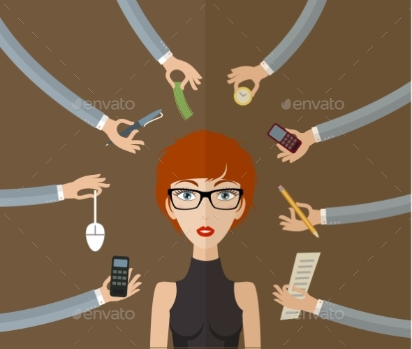 GraphicRiver Business Woman 9840726