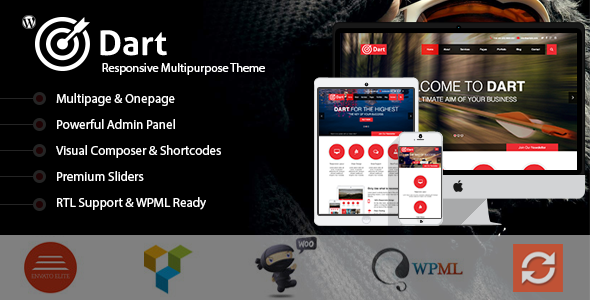 Dart The Advanced Wordpress Business Theme