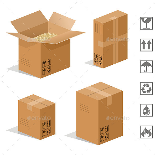 GraphicRiver Cardboard Boxes 9842461