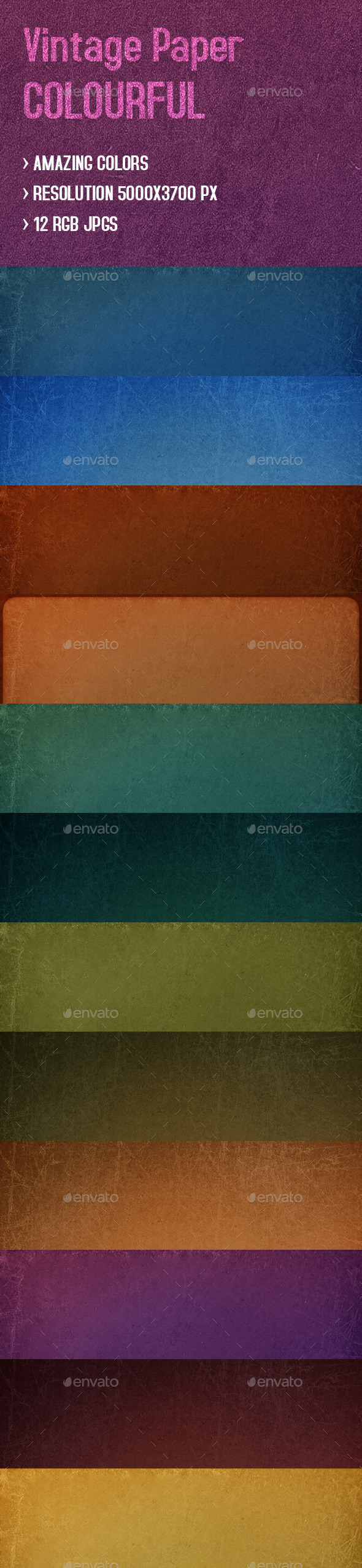 GraphicRiver Paper Textures Vintage Colors 9518347