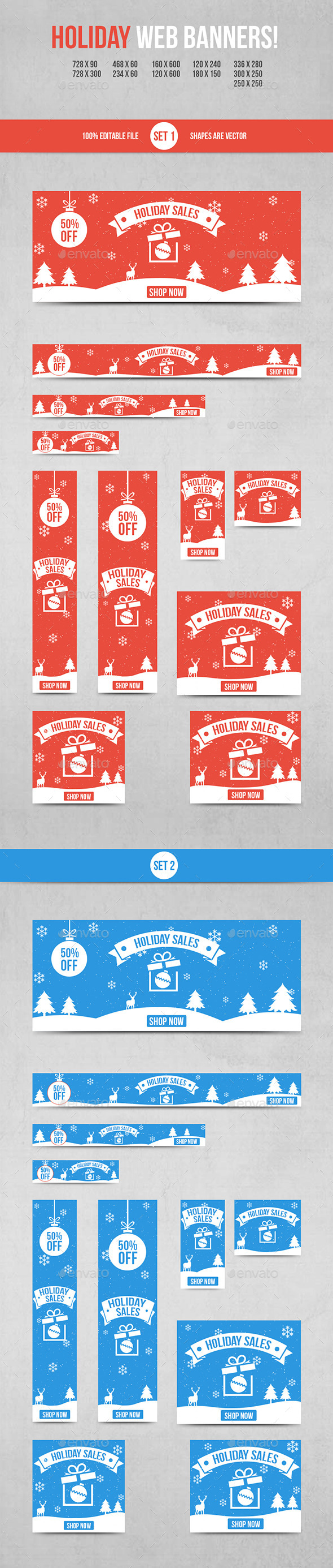 GraphicRiver Holiday Web Banners 9842543