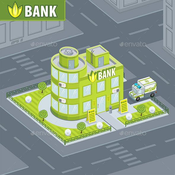 GraphicRiver Facade Bank 9842899