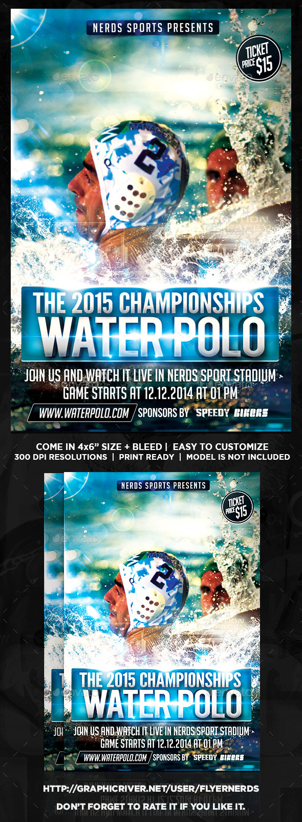 GraphicRiver Water Polo Championships Sports Flyer 9842902