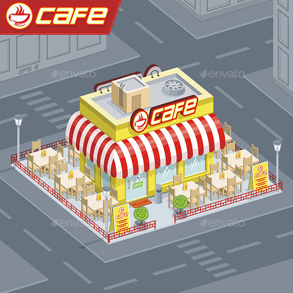 GraphicRiver Facade Coffee Shop 9842909