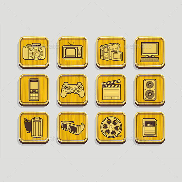 GraphicRiver Photo and Video Icons 9842997