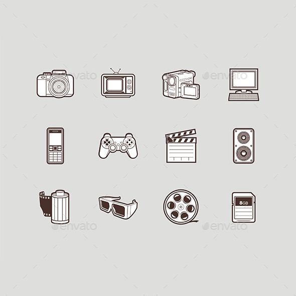 GraphicRiver Multimedia Icons Set 9843000