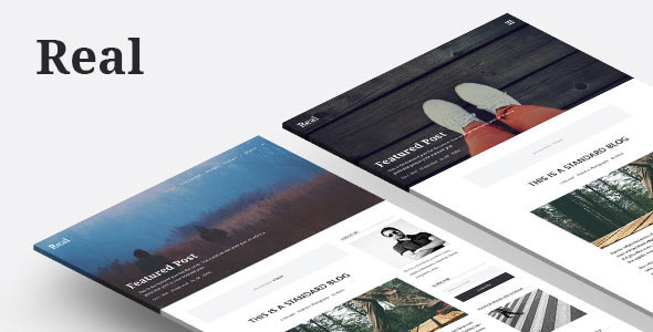 ThemeForest REAL Responsive Blog WordPress Theme 9615071