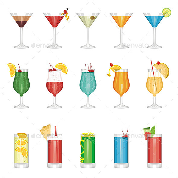 GraphicRiver Cocktail Set 9843018