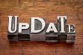 update word in metal type - PhotoDune Item for Sale