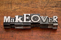 makeover word in metal type - PhotoDune Item for Sale