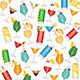 Cocktails Pattern - GraphicRiver Item for Sale