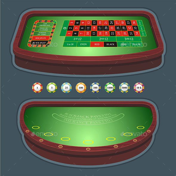 GraphicRiver Roulette Table Blackjack 9843661