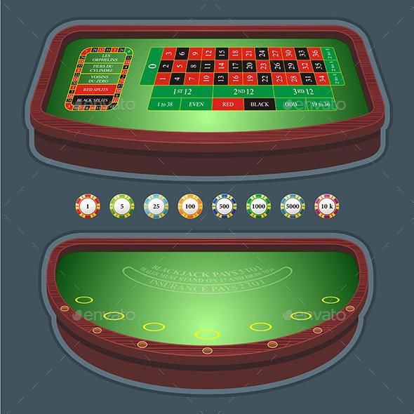 GraphicRiver Roulette Table Blackjack 9843661