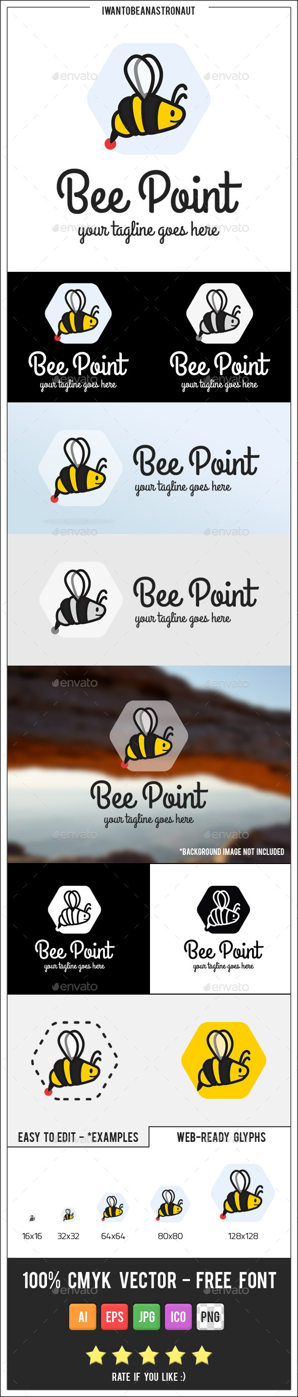 GraphicRiver Bee Point Logo 9843662