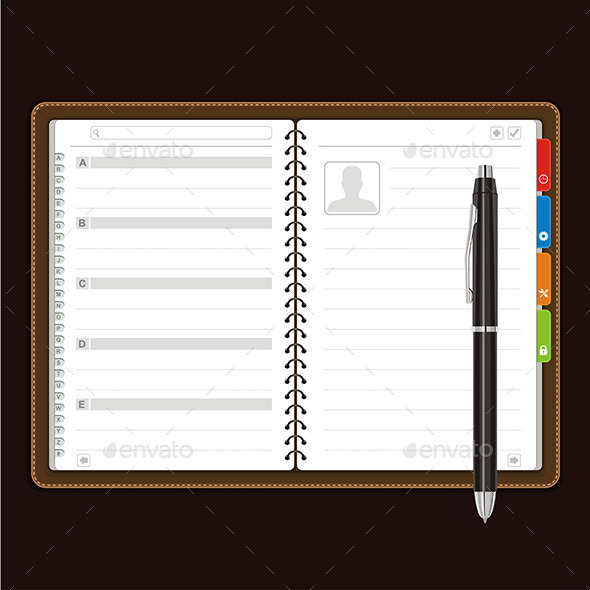 GraphicRiver Open Personal Organizer Vector 9843663
