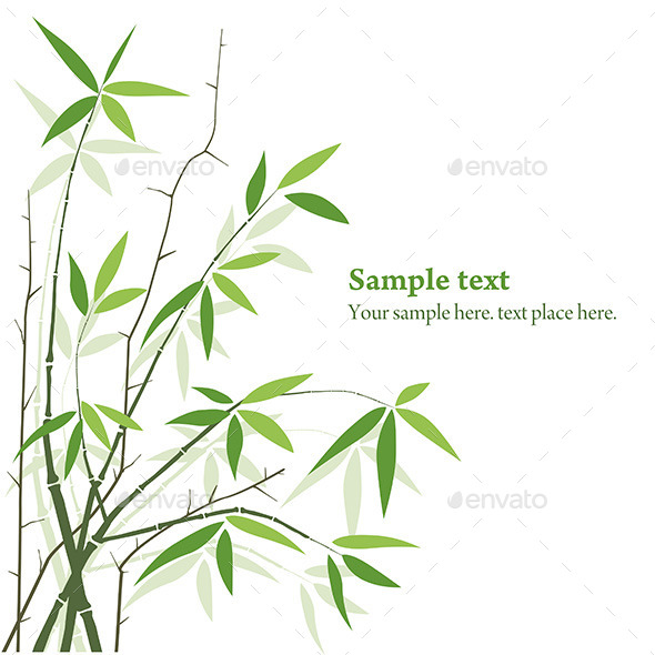 GraphicRiver Vector Bamboo 9843728