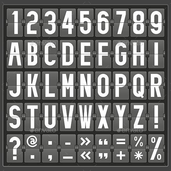 GraphicRiver Alphabet Mechanical Panel 9843747