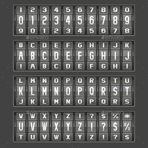 GraphicRiver Alphabet Mechanical Panel 9843751