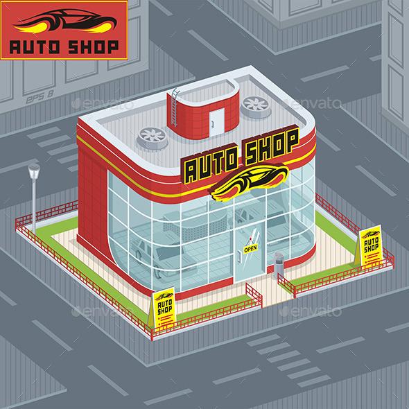 GraphicRiver Auto Shop 9843814