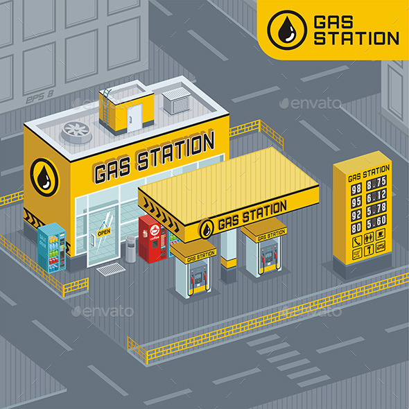 GraphicRiver Gas Station 9843820