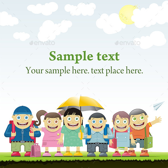 GraphicRiver Schoolboys and Schoolgirls 9843943