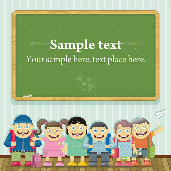 GraphicRiver Kids in School 9844106