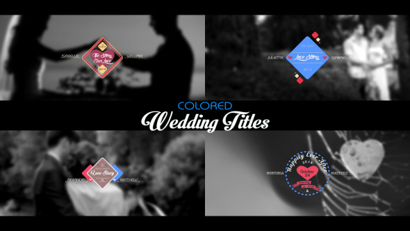 Wedding Titles – Colored (Titles)