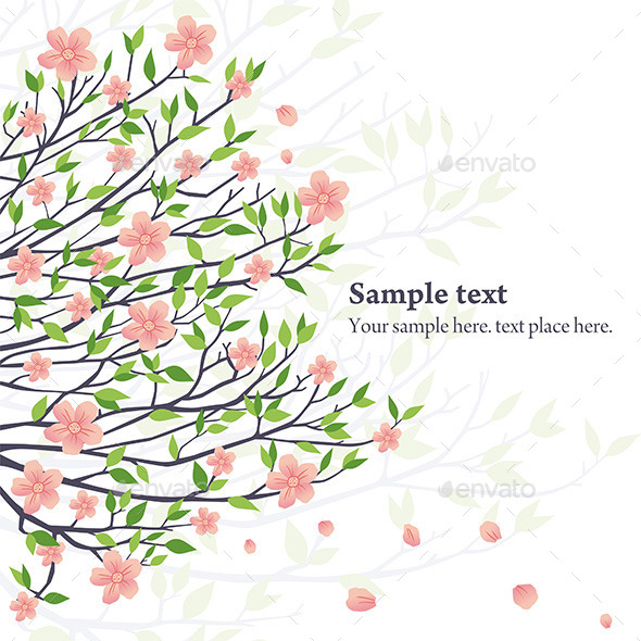 GraphicRiver Vector Sakura 9844231