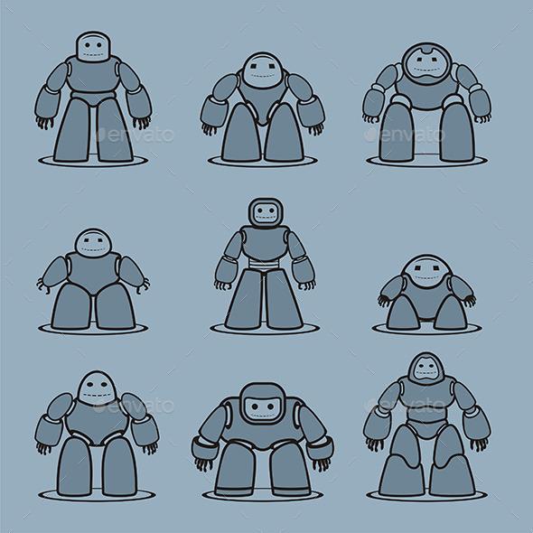 GraphicRiver Robots 9844563