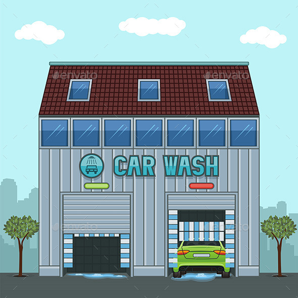 GraphicRiver Car Wash 9844595