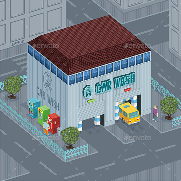 GraphicRiver Car Wash 9844600