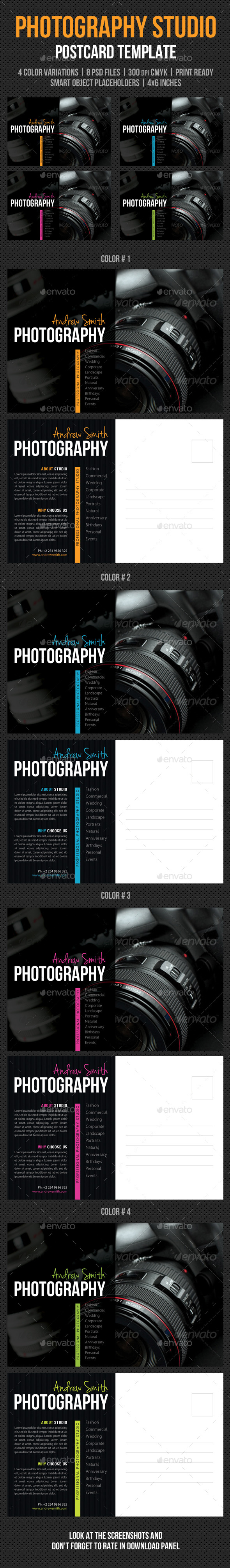 Photography Studio Postcard Template V03