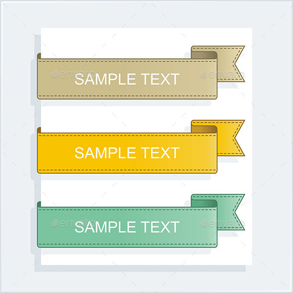 GraphicRiver Vector Collection Ribbons 9844614