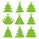 Christmas Trees Collection - GraphicRiver Item for Sale