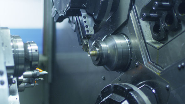 CNC Lathe Produces Metal Detail on Factory 5