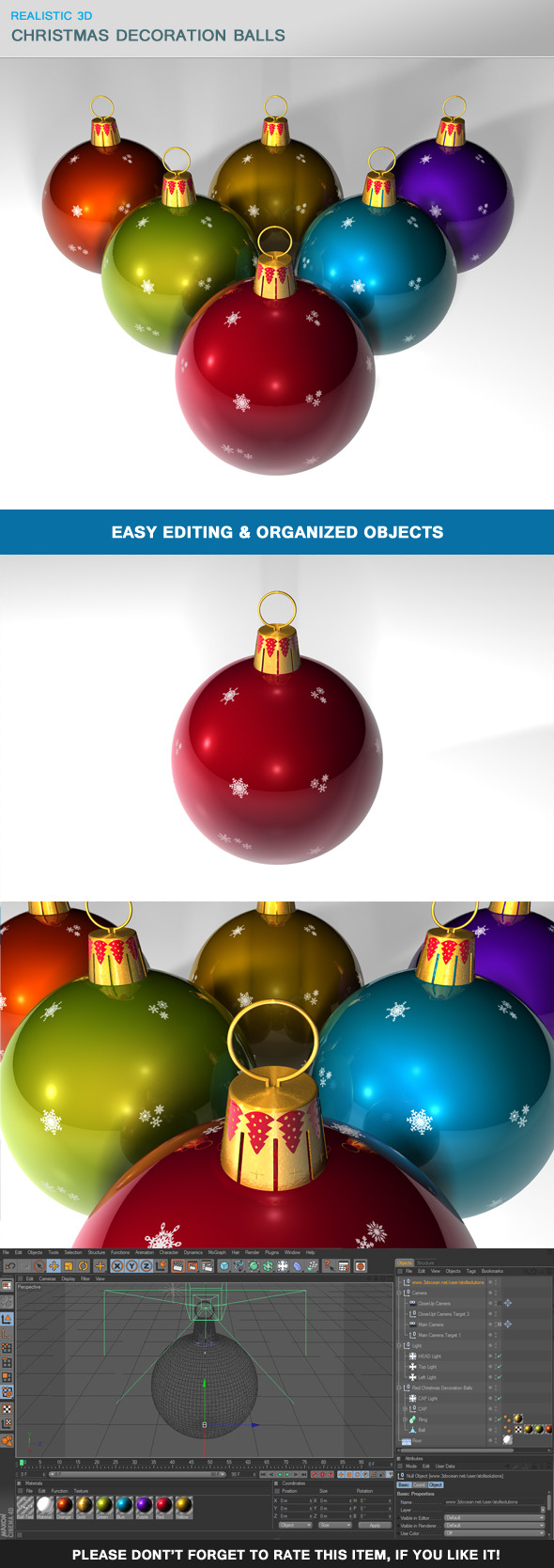 3DOcean Christmas Decoration Balls 9844773