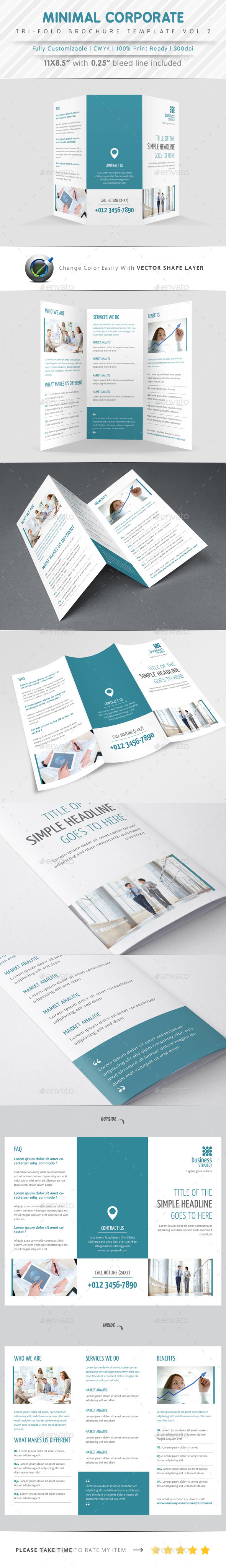 GraphicRiver Minimal Tri Fold Vol.2 9844934