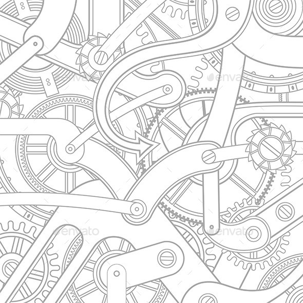 GraphicRiver Gears Pattern 9844978