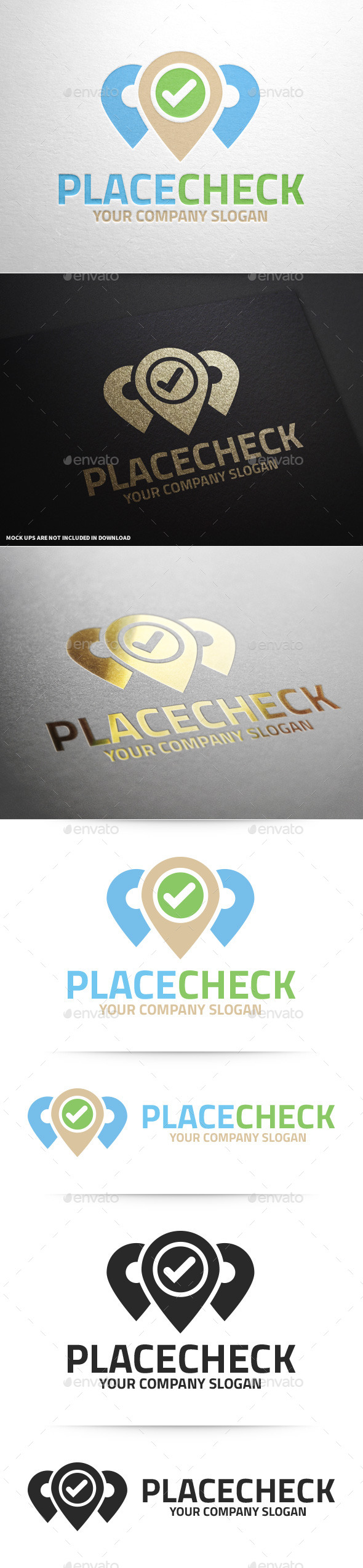 GraphicRiver Place Check Logo Template 9844987