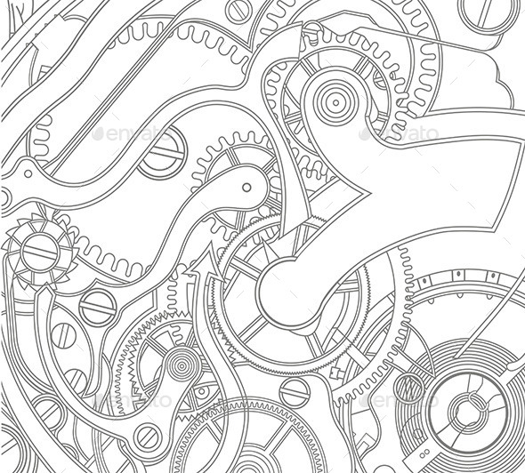 GraphicRiver Gears Pattern 9844997