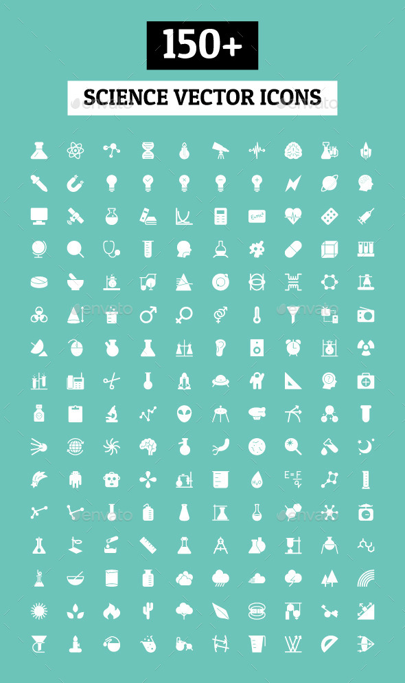 GraphicRiver 150& Science Vector Icons 9844998