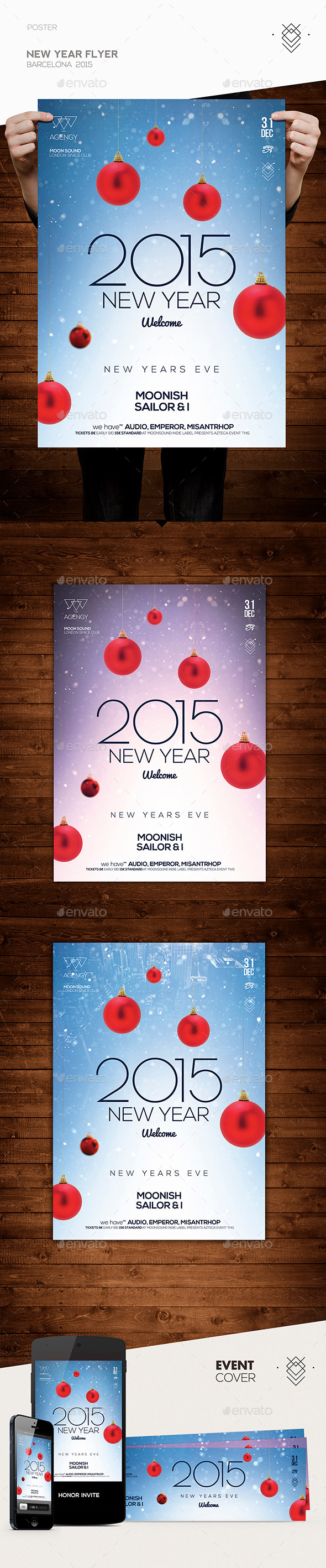 GraphicRiver New Year Flyer 9845015