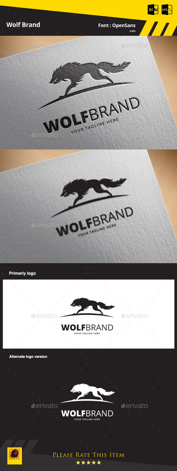 GraphicRiver Wolf Brand Logo Template 9845030